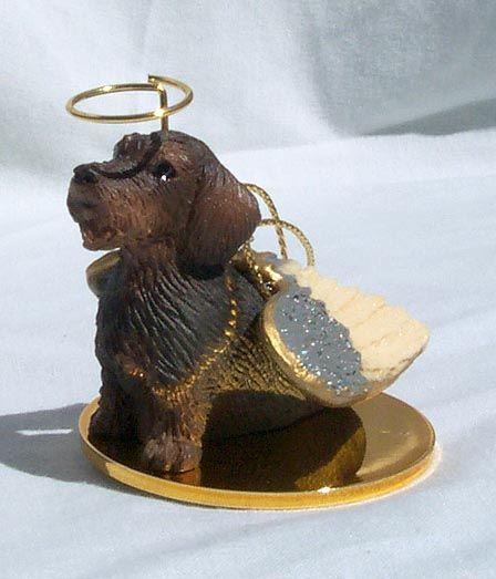 Dachshund Wire Hair Dog ANGEL Tiny One Ornament Figurine Statue
