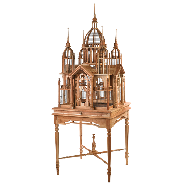 Teak Basilica Birdhouse | Indeed Decor