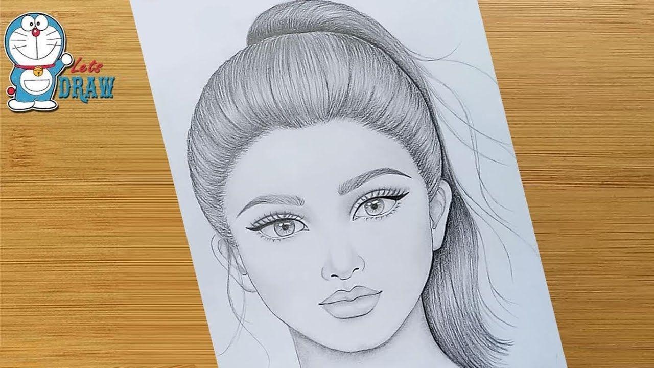 Wie Zeichnet Man Ein Hubsches Madchen Mit Pferdeschwanz Frisur Bleistiftzeichnung Ein Madchen Gesicht Zeichnung Frisuren Zeichnen Gesicht Zeichnungen