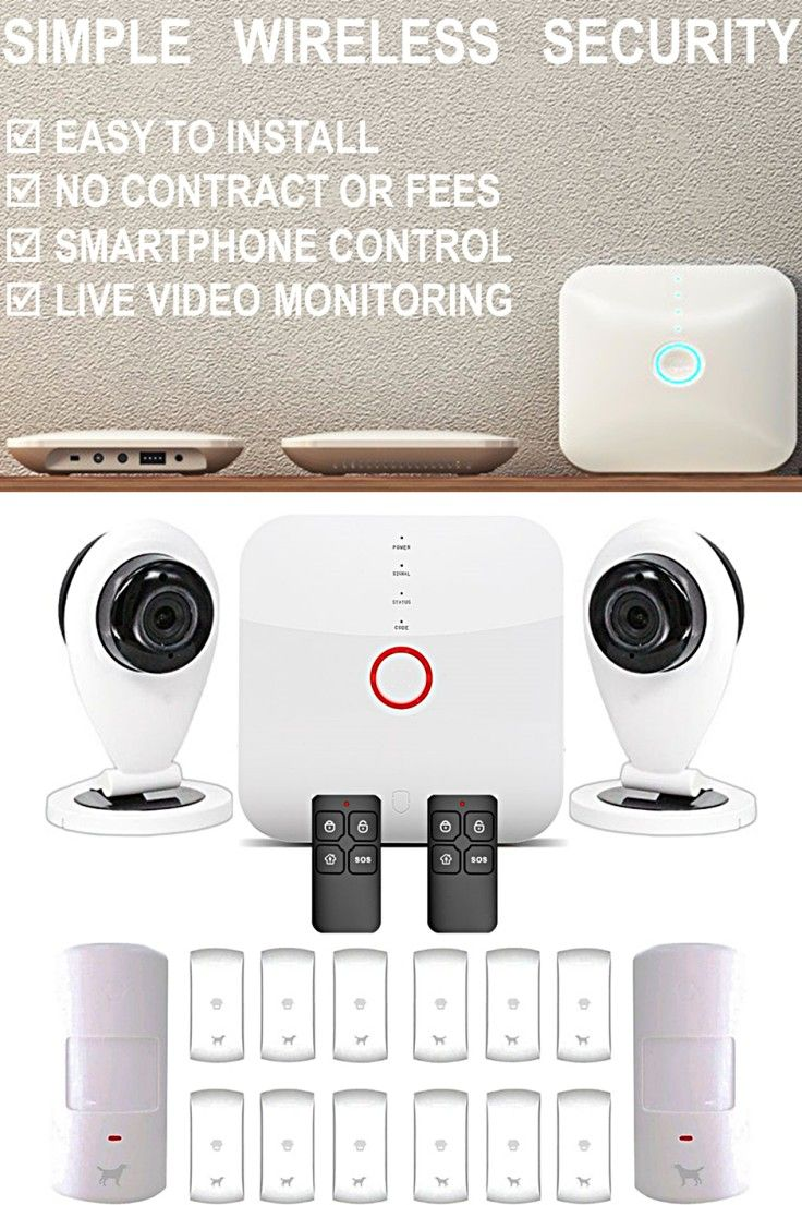Smart WiFi Alarm System with Cameras I need Pinterest