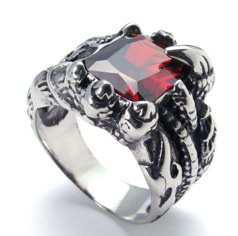 Aliexpress.com : Buy Free shipping 316l stainless steel zircon ring alondra trachypenaeus fashion punk personality male on Men's choice. $9.31
