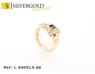 252f438d9860 1-3-24-1-L 4405 Anillo fantasía hebilla con piedra tipo