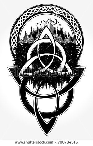 Celtic Tattoo And T Shirt Design Celtic Knot Tattoo Mountain