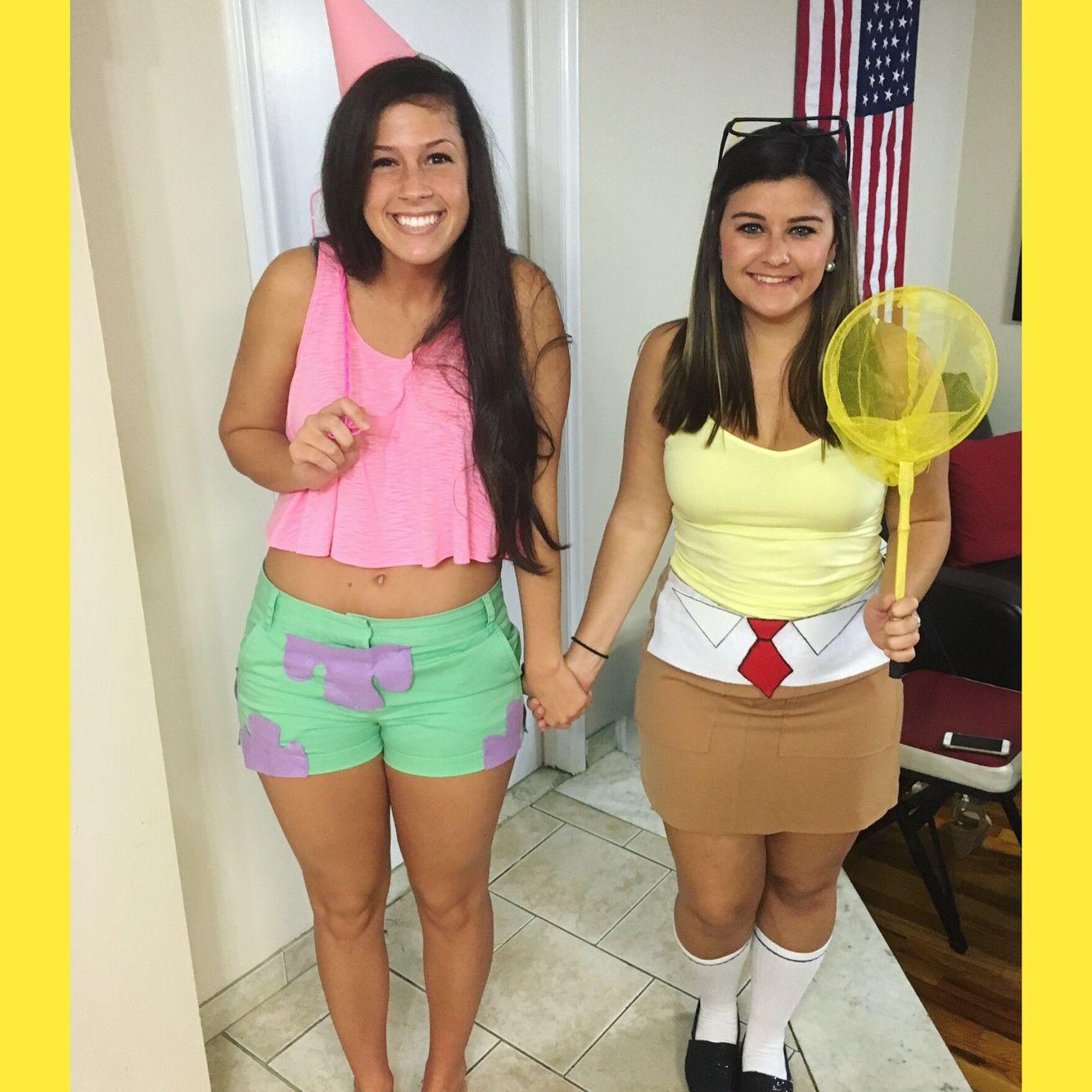 SpongeBob and Patrick costume! #halloween  sc 1 st  Pinterest & SpongeBob and Patrick costume! #halloween | h a l l o w e e n ...