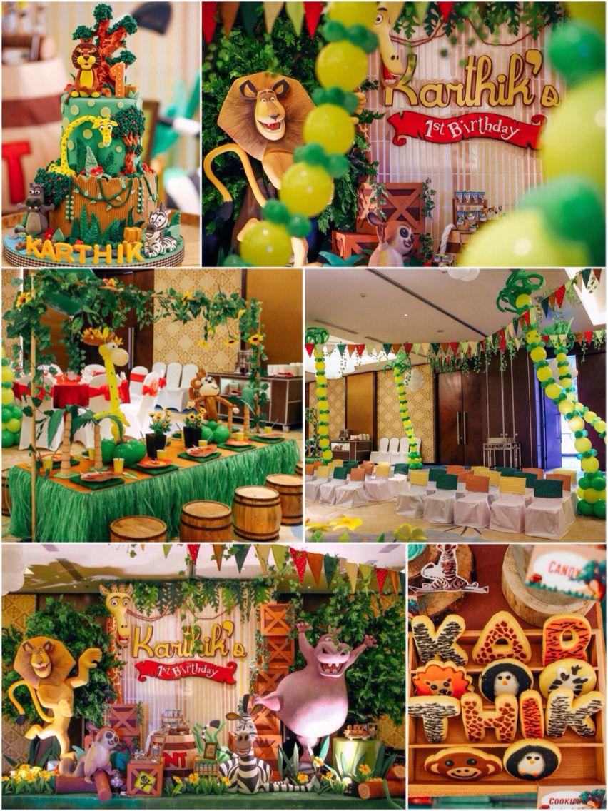 Madagascar Birthday Ideas One Year Party In 2018 Pinterest