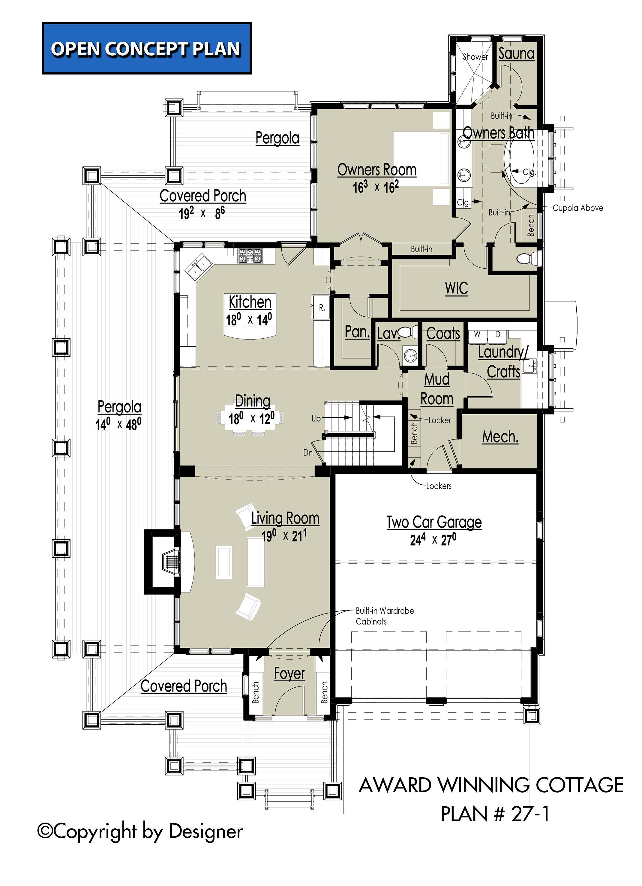 Award Winning Cottage House Plan 27 1 Garrell Associates Inc House Porch Design Cottage House Plans Floor Plans