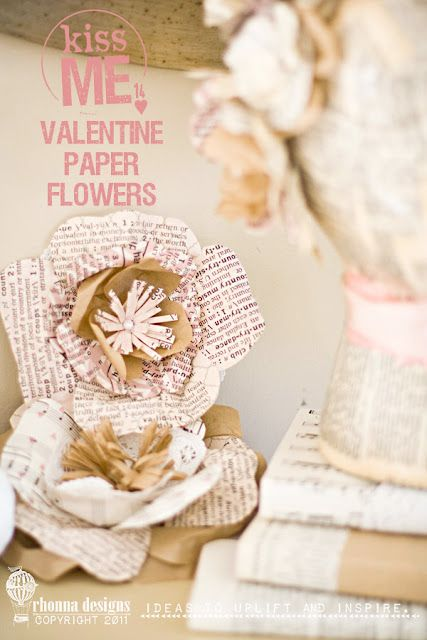 #valentine paper flowers by lovely rhonna designs