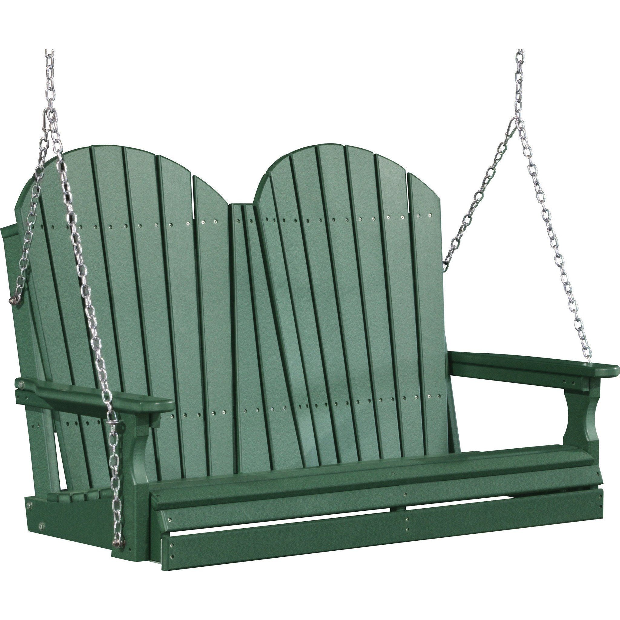 LuxCraft Adirondack 4ft. Recycled Plastic Porch Swing ...