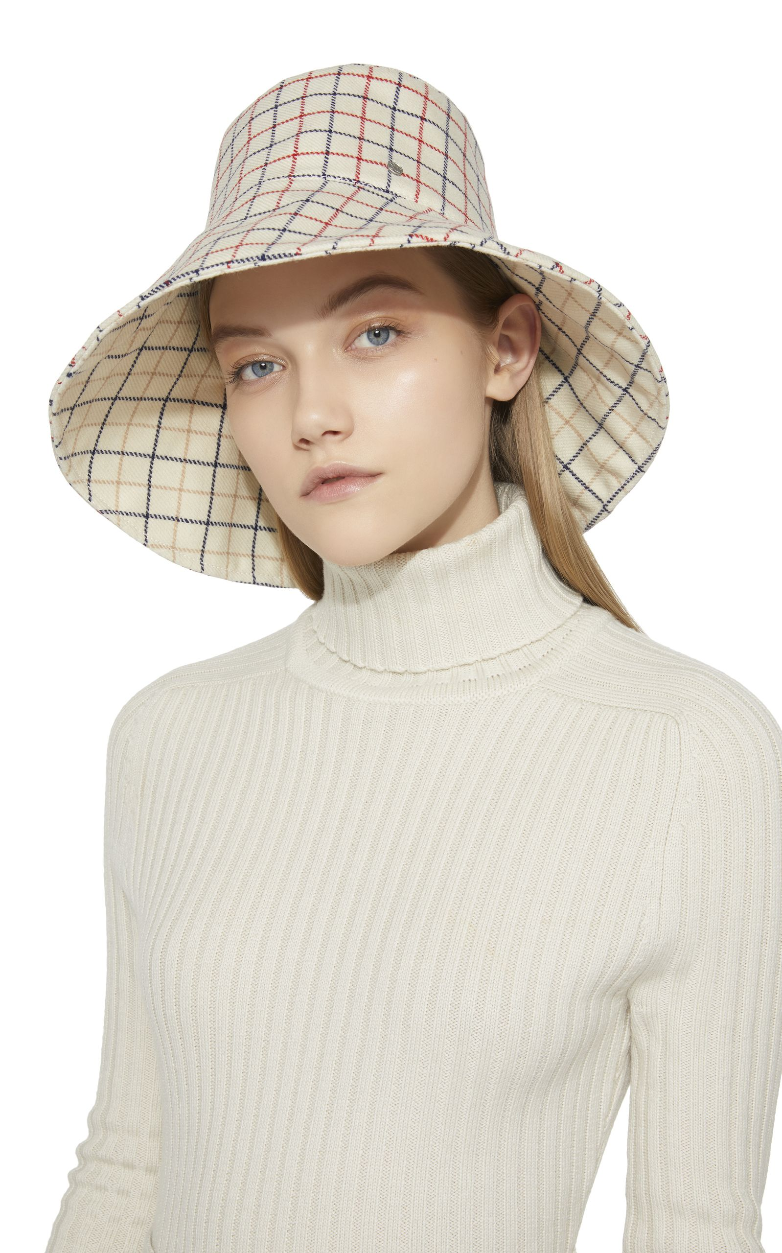 Isabella Checked Wool Bucket Hat  a39b6935c519