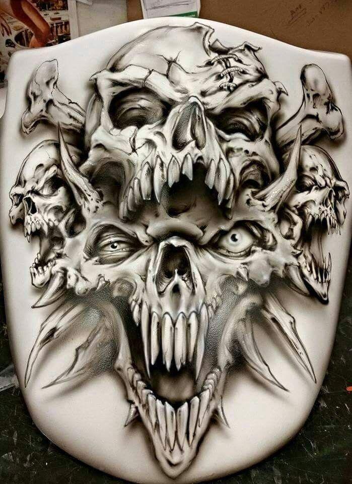 Pin by Crystal Craig on Skulls Skull tattoo design