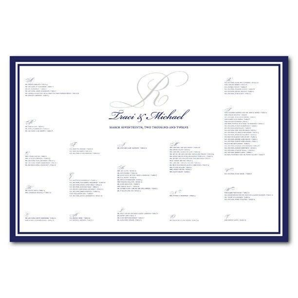 Wedding Seating Chart for Traci B - @jujubeedesign- #webstagram