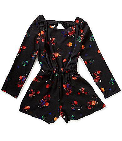 GB Girls Big Girls 716 Floral Print Romper #Dillards