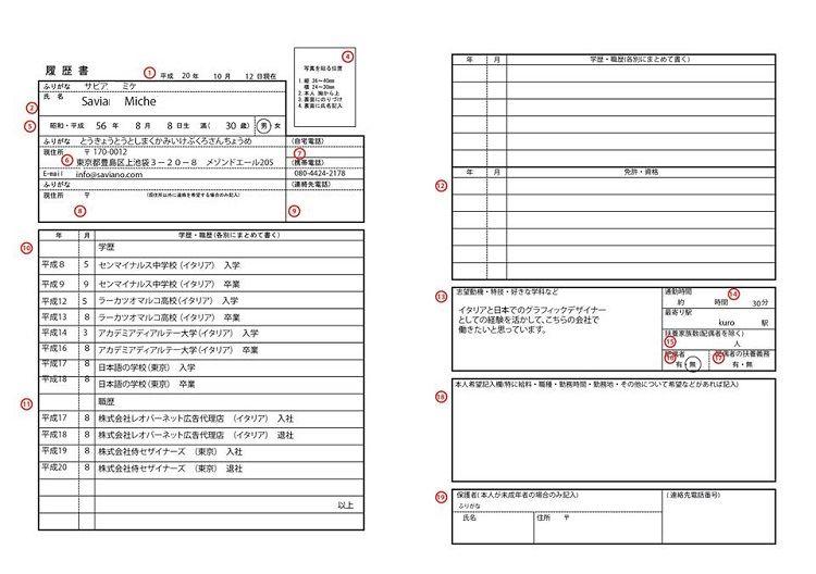 japanese resume format word