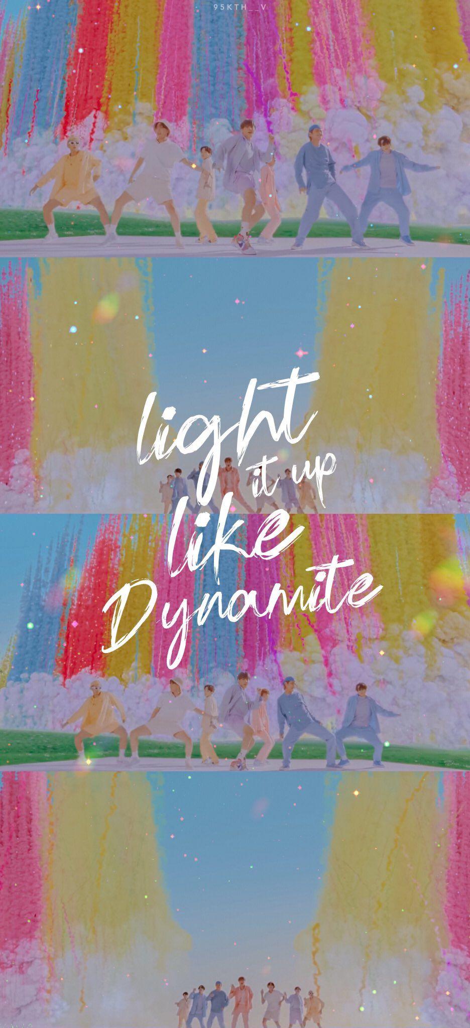 Bts Dynamite Official Mv Wallpaper Lockscreen Edit Bts Wallpaper Lyrics Bts Wallpaper Wallpaper Bts dynamite lyrics wallpaper