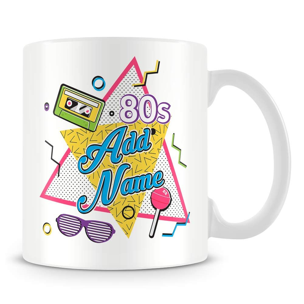 80s personalised mug add any name mugs retro gifts