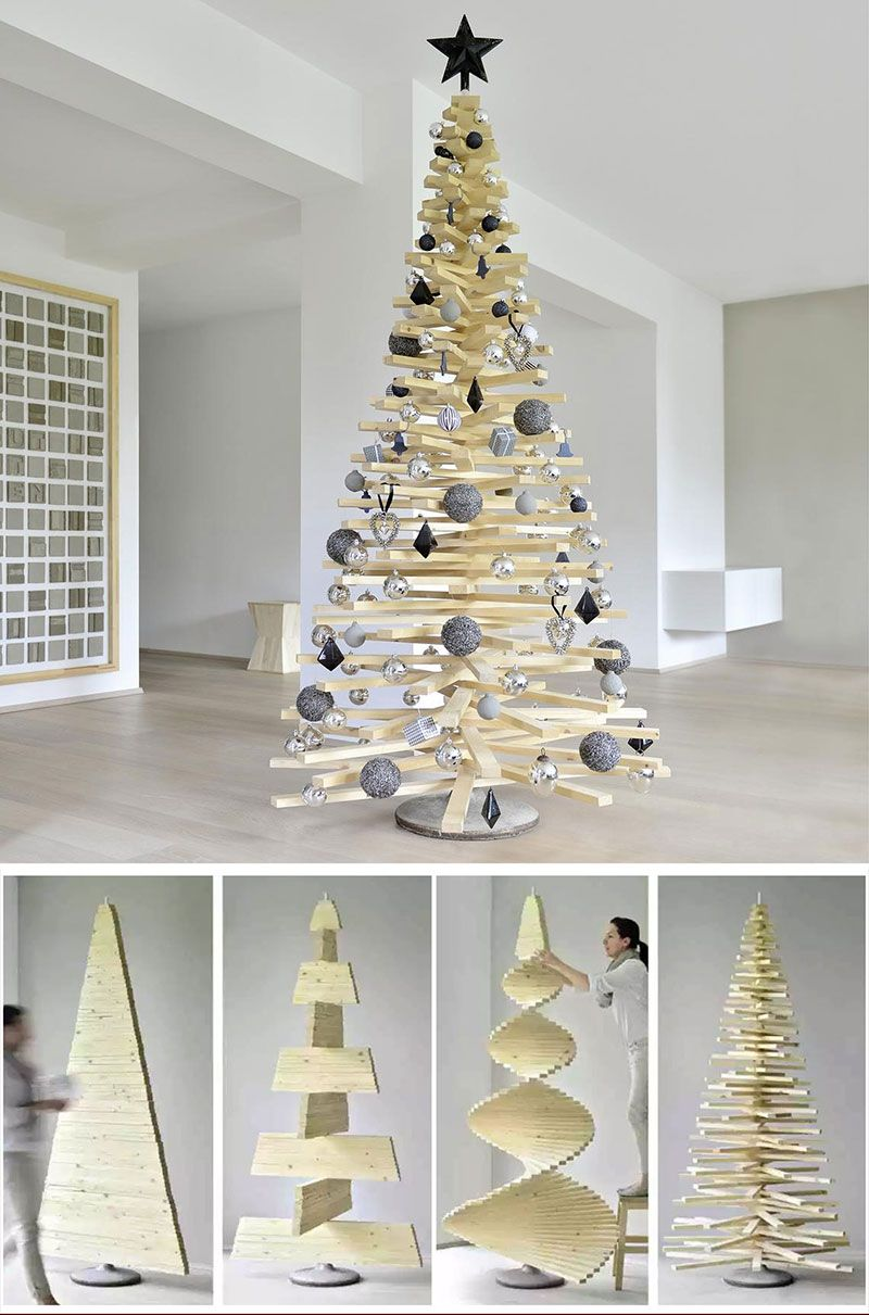 40 Unique Christmas Tree Alternatives Art Home Diy Christmas Tree Wooden Christmas Trees Wood Christmas Tree