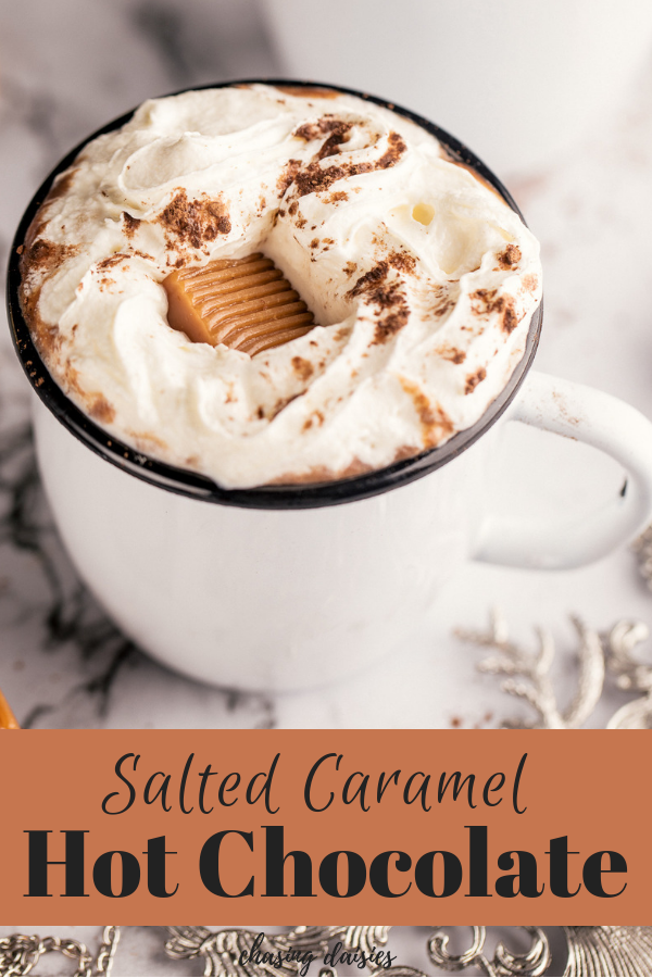 Salted Caramel Hot Chocolate Recipe #hotchocolaterecipe