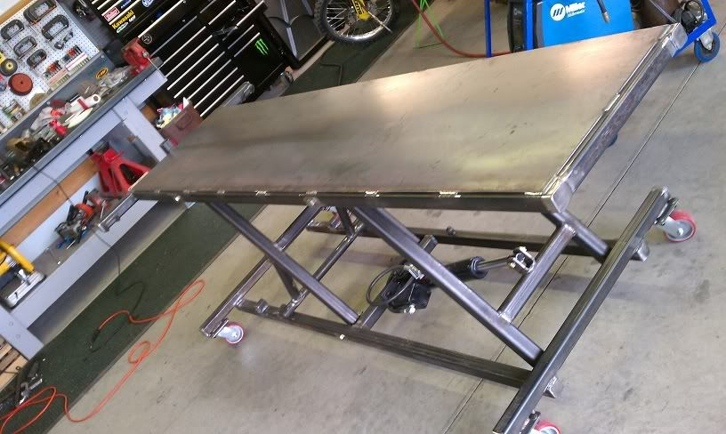 Mc Lift Table Project Custom Fighters Streetfighter Motorcycle Forum Diy Welding