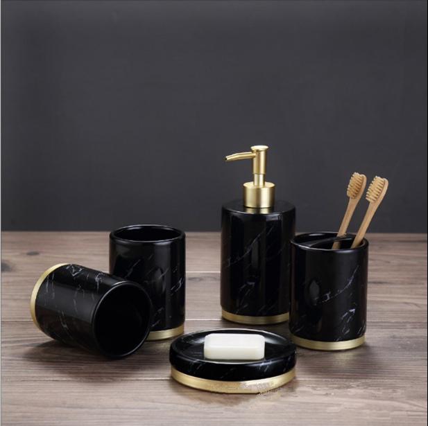 Photo of Balvior Obsidian Ceramic Bathroom set – Q1 set