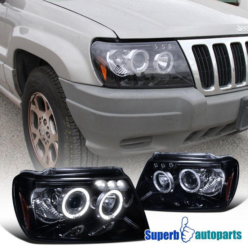 High Quality Glossy Black Housing Smoke Lens Projector Headlights