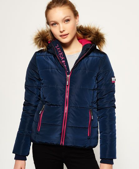 low priced d878f 7d33c Superdry Sportliche Steppjacke mit Webpelz-Kapuze | Fashion ...