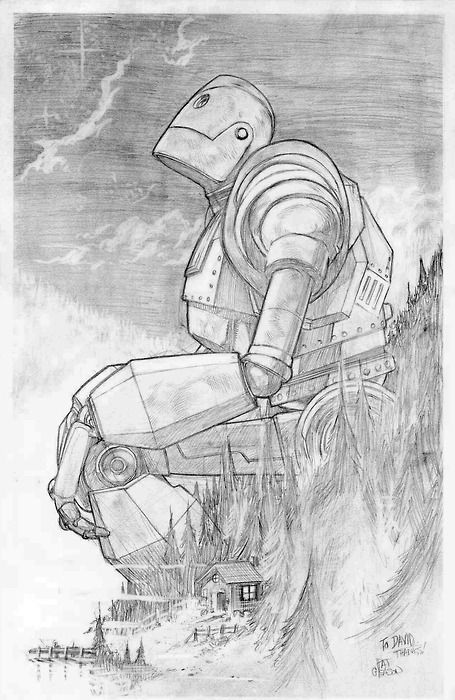 Iron Giant illustration by Patrick Gleason. | random fun | Pinterest ...
