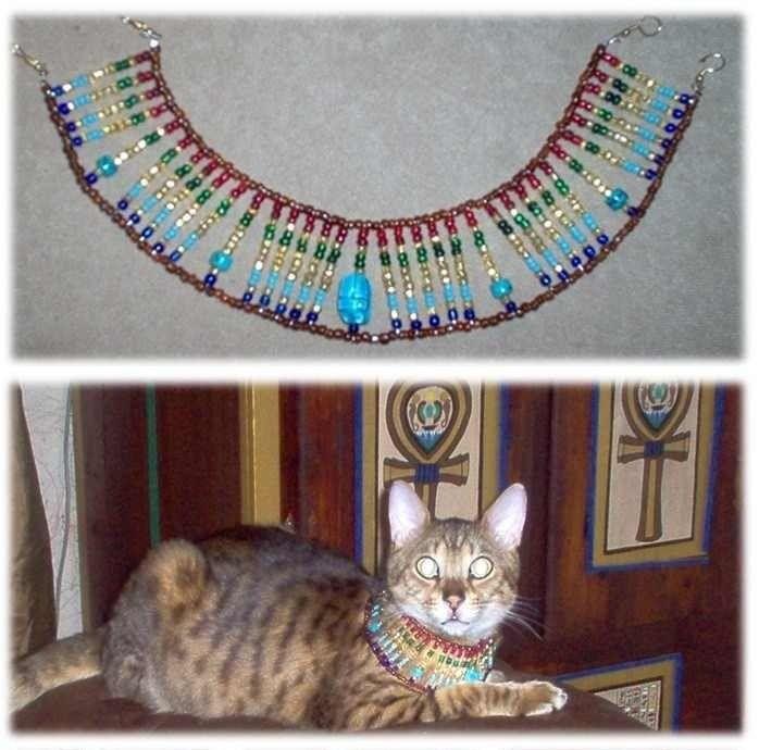 Diy Egyptian Cat Collar Diy Cat Toys Cat Crafts Dog