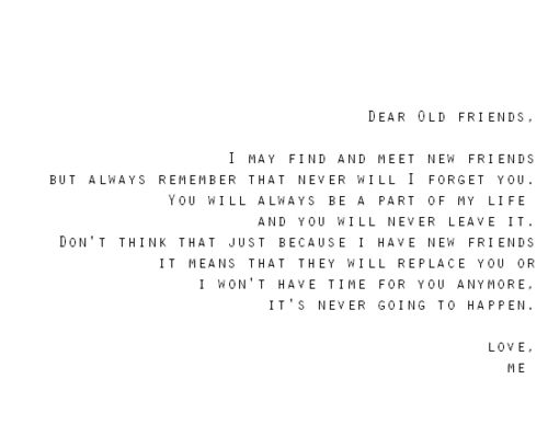 letter to old friends | bff | Old friend quotes, Best friend