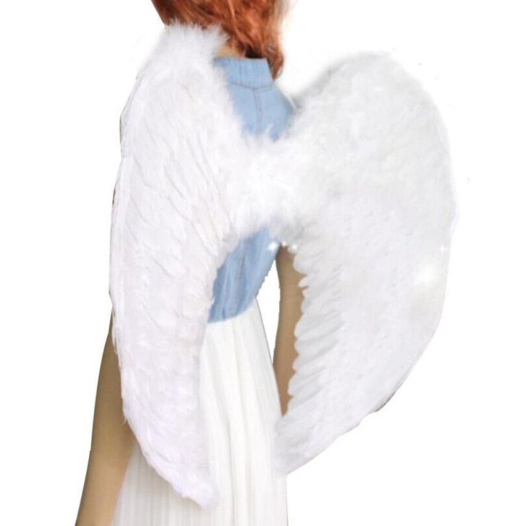 Adult Kids Fairy Feather Angel Wings Halloween Party Fancy Dress Cosplay Costume