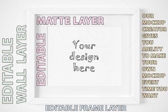 White frame mockup CREATOR ratio 4:5