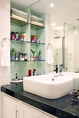 Playful Colors And Patterns In A 38sqm Unit House And Home Magazine Home Shower Fixtures