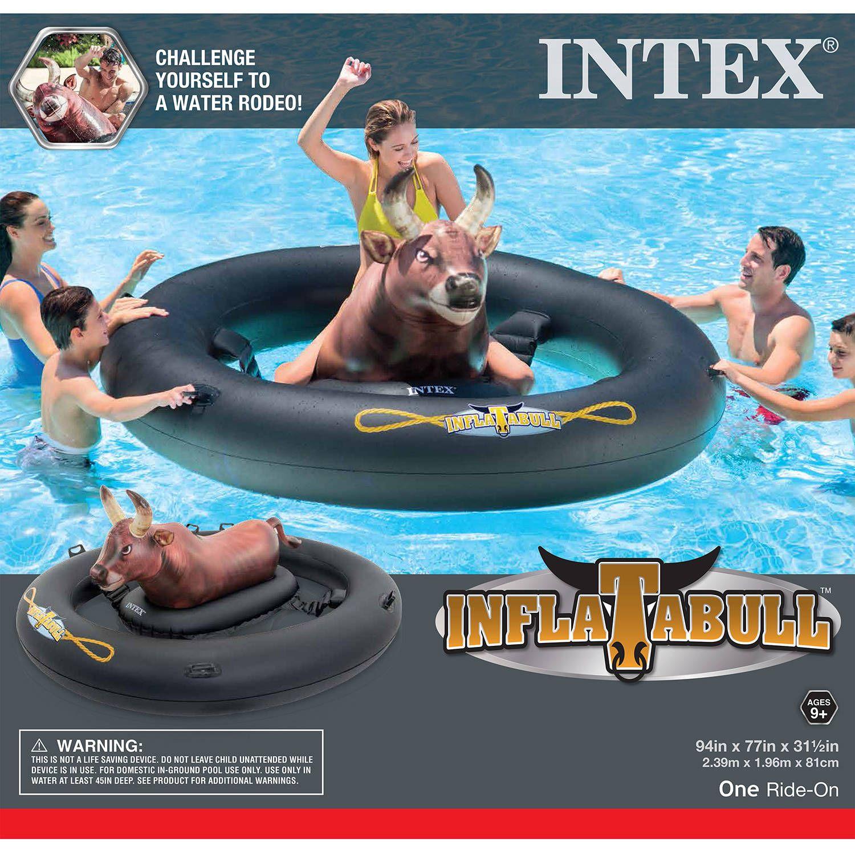 Intex Inflatabull Rodeo Bull Ride On Float Walmart Com Swimming Pool Floats Pool Toys Inflatable Swimming Pool