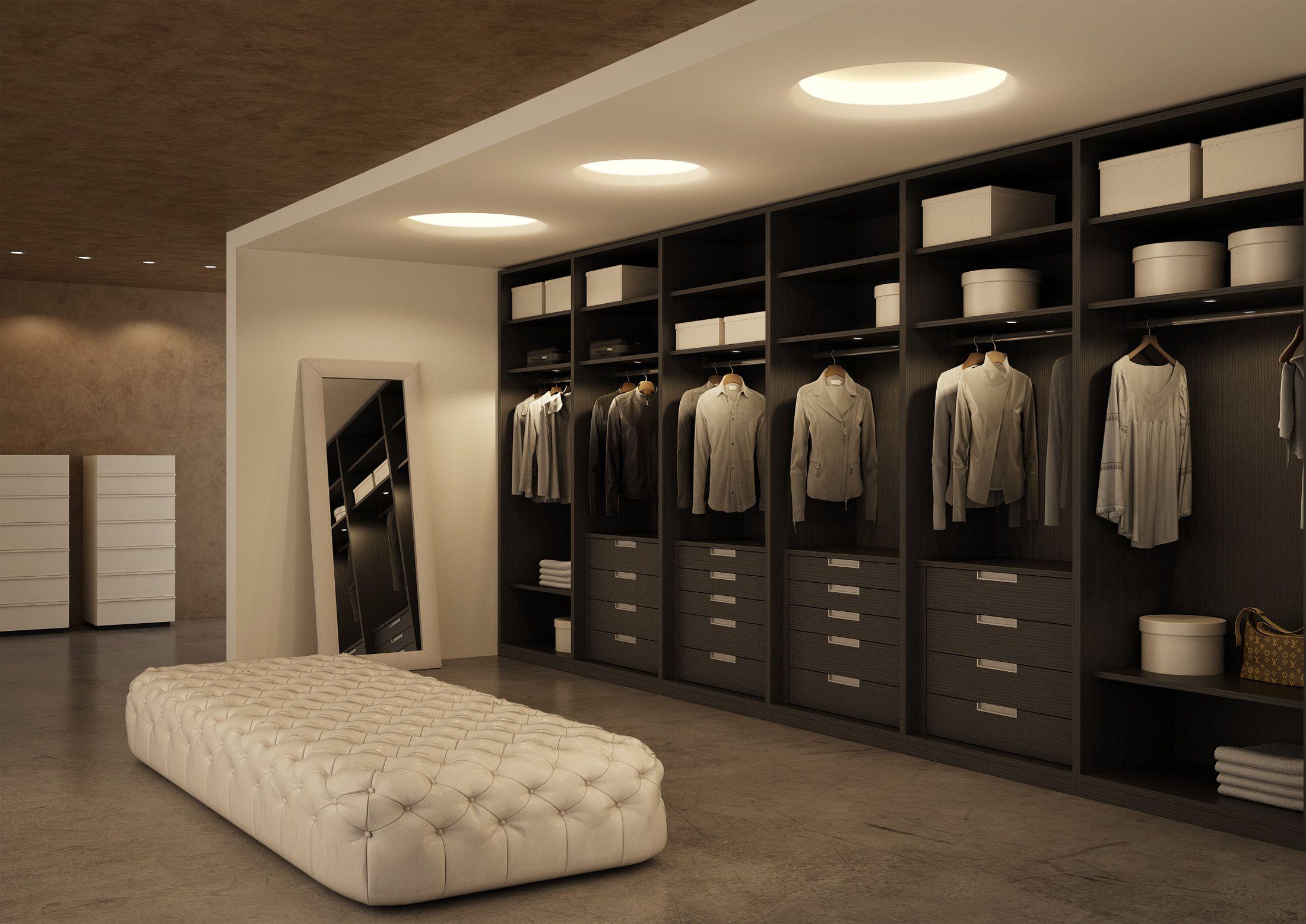Atlante Walk In Closet In Grey Oak Cabina Armadio Atlante In Rovere Grigio Walk In Wardrobe Walk In Closet Design Clothes Cabinet