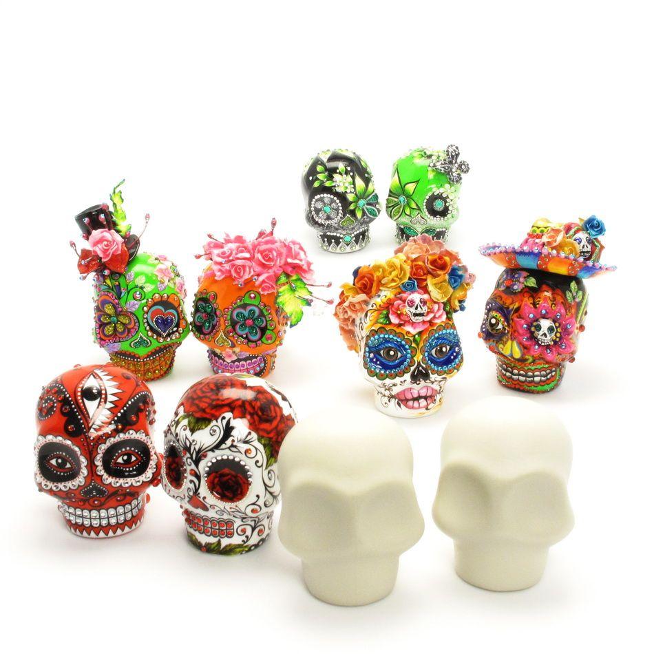 Unpainted Diy Crafts Skull Lover Diy Skulls Wedding Cake Topper Keepsake Wedding Cake Topper Figurines