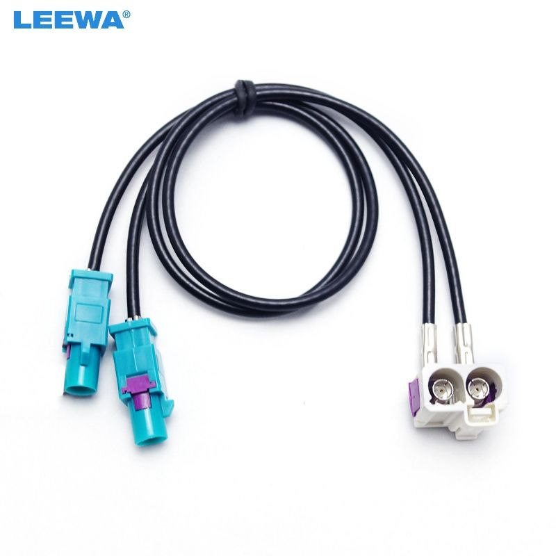 1pc Oem For Vw Rns510 Mfd3 Rcd510 310 Radio Antenna Adapter 2 To 2 Conversion Cable For Jetta Golf Mk5 Mk6 Passat B6 Car Electronics Radio Antenna Electronics
