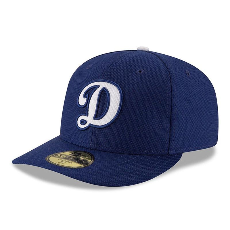 009cbdd3 Los Angeles Dodgers New Era Home Diamond Era Low Profile 59FIFTY Fitted Hat  - Royal