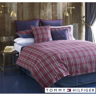 @Overstock   This Tommy Hilfiger Duvet Cover Set Features A Bold Red And  Navy Tartan