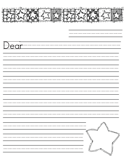 star writing template