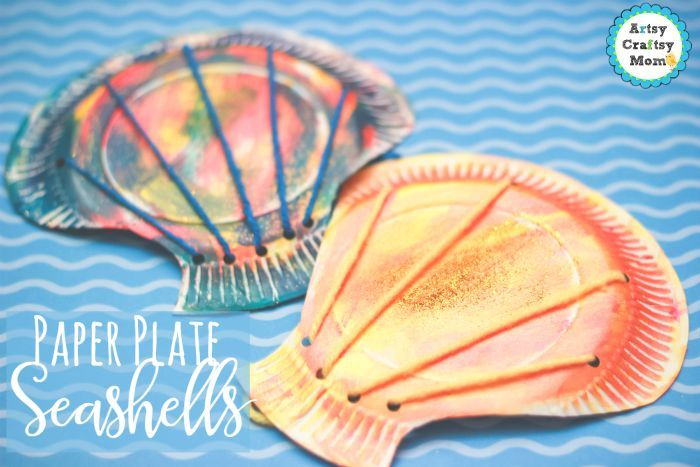 Paper Plate Seashell Craft For Preschoolers Ocean Theme