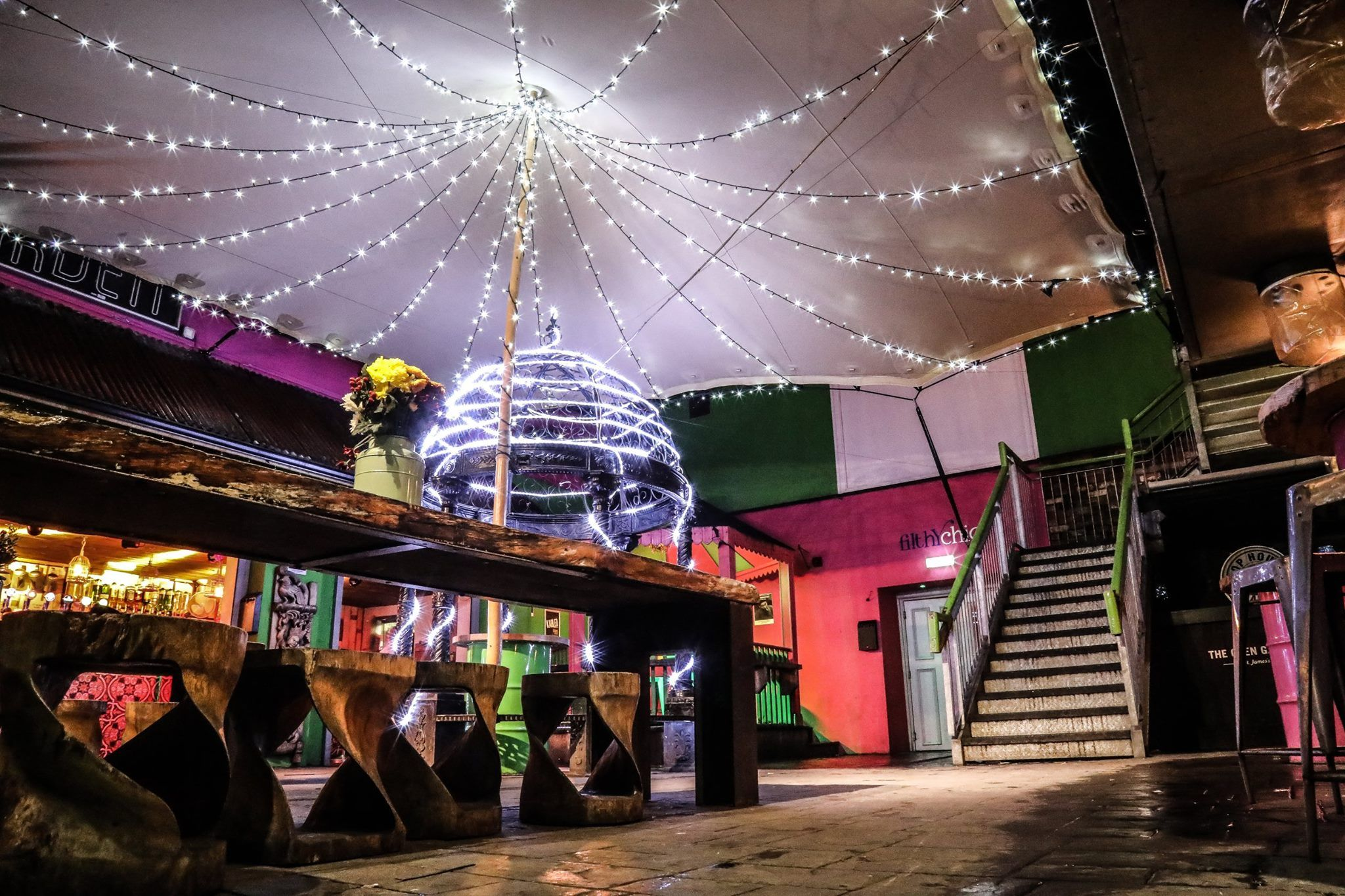Biege Stretch Canopy used as Beer Garden cover at Filthy McNastysu0027 Bar Belfast. & 10m x7.5m Biege Stretch Canopy used as Beer Garden cover at Filthy ...