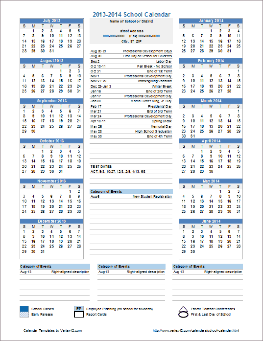 Cub Scout Planning Calendar Template 2021-2022 This template is useful for creating official school calendars
