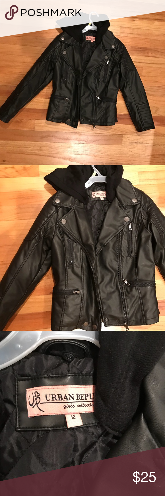 Little Girls Faux Leather Jacket Faux Leather Jackets Jackets Leather Jacket [ 1740 x 580 Pixel ]