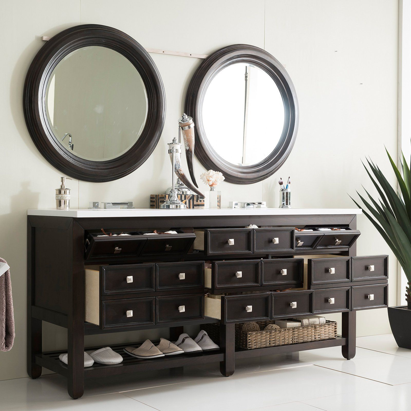 James Martin Furniture Victoria 69 In. Double Vanity   Get That Apothecary  Look In Your Master Bath With The James Martin Furniture Victoria 69 In.