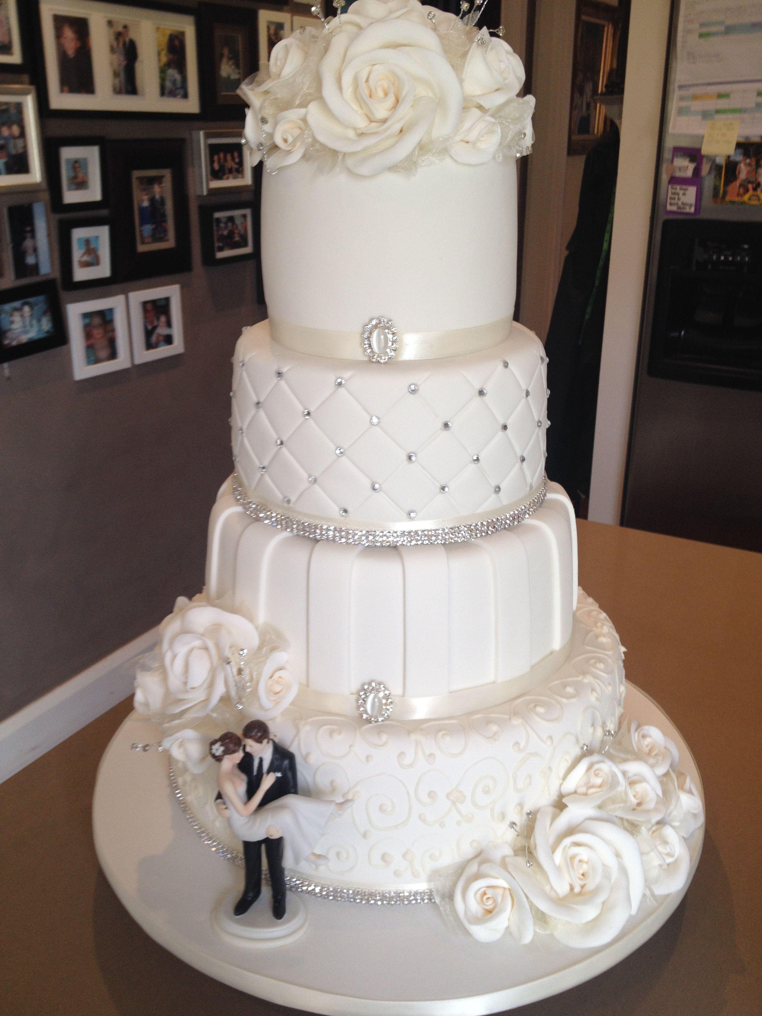 4 Tier Elegant Wedding Cake 12 Layers Of Homemade Cake