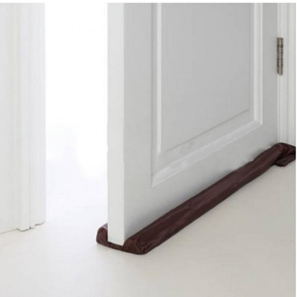 Brown Energy Save Cloth Dust Doorstop Cleaning Strap Cold Air Prevented Door Stopper Door Stopper Door Stop Home Decor