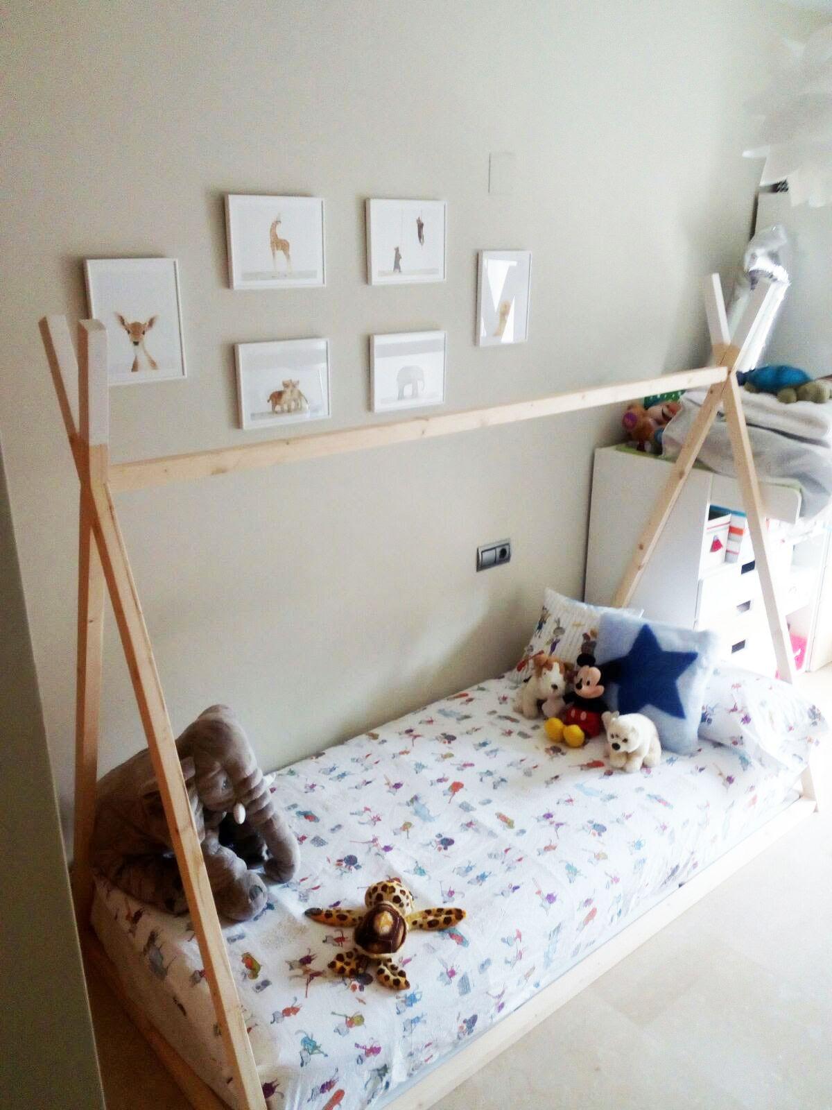 Kids Teepee Wood House Bed Toddler Bed House Montessori: Cama Tipi #montessori #camas #camatipi #teepee #tipi