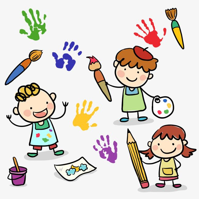 3 Cartoon Drawing Children Vector Material, 3 Cartoon Drawing Children, Cartoon Painting Children, Cartoon Vector PNG Transparent Clipart Image and PSD File for Free Download