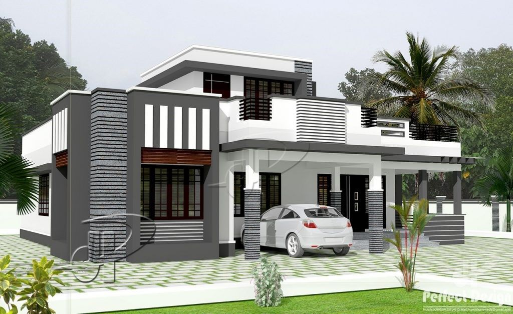 A Design Of A Sophisticated Single Floor Three Bedroom Contemporary House Will Showcase Its Kerala House Design Single Floor House Design Modern Bungalow House