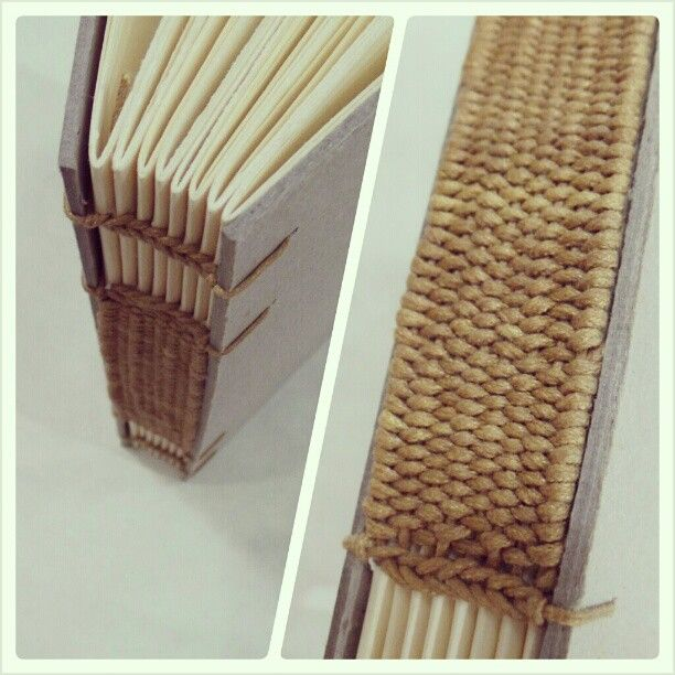 Beautiful rice grain bookbinding woven spine coptic for Beautiful binding