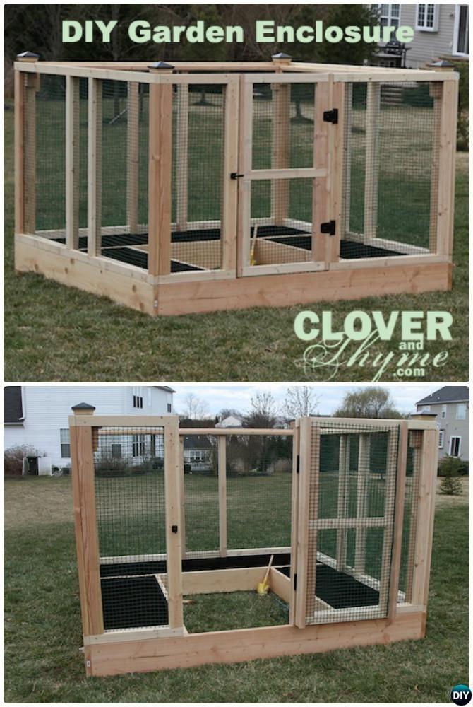 diy raised bed garden enclosure